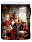 Blacksmith - The Smithy  Duvet Cover by Mike Savad