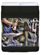 Blacksmith Working Iron V1 Duvet Cover