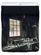 Blacksmiths Workbench - One October Afternoon Duvet Cover