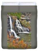 Blackwater Falls-2a Blackwater Falls State Park Wv Autumn Mid-morning Duvet Cover