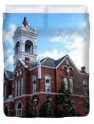 Blairsville Courthouse At Christmas Duvet Cover