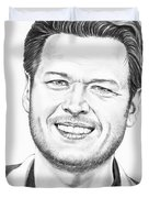 Blake Shelton Duvet Cover by Murphy Elliott