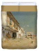 Blanes Beach Duvet Cover