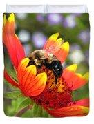 Blanket Flower And Bumblebee Duvet Cover