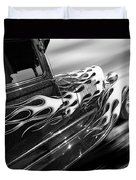 Blazing A Trail - Ford Model A 1929 In Black And White Duvet Cover