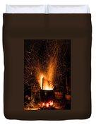 Blazing Bonfire Duvet Cover