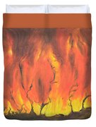 Blazing Fire Duvet Cover