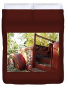 Blazing Red Fire Truck Duvet Cover