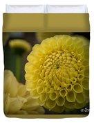 Blazing Yellow Dahlia Duvet Cover