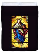 Blessed Mother's Ascension Duvet Cover