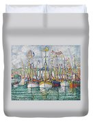 Blessing Of The Tuna Fleet At Groix Duvet Cover