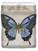 Bleu Papillon-a Duvet Cover