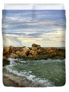 Blind Pass Storm Rocks - Captiva  Duvet Cover