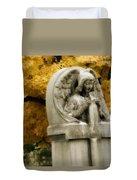 Blissful Angel In Autumn Duvet Cover