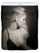 Blond Girl With Naked Breast 1287.01 Duvet Cover
