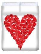 Blood Cells Heart Duvet Cover