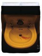 Blood In Sink Duvet Cover