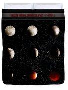 Blood Moon Lunar Eclipse 2014 Color Duvet Cover