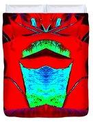 Blood Red Duvet Cover
