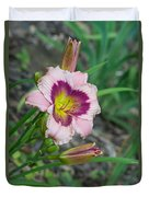 Blood Throated Lily 1 Duvet Cover