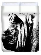 Bloodhound - It's Black And White - By Sharon Cummings Duvet Cover