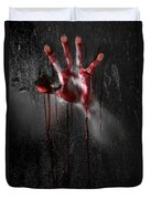 Bloody Hand Duvet Cover by Jt PhotoDesign