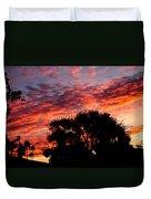 Bloody Sunset Over Palm Desert Duvet Cover