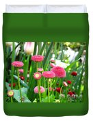 Bloom Pink English Daisies Duvet Cover