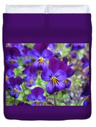 Bloom Purple Violets Duvet Cover