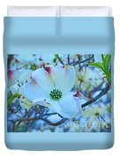 Bloom White Dogwood Duvet Cover
