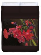 Bloomin' Red Duvet Cover