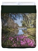 Blooming Azaleias At Middleton Place Plantation Duvet Cover