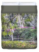 Blooming Azaleias Duvet Cover