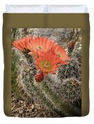 Blooming Cacti Duvet Cover
