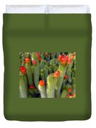Blooming Cacti Duvet Cover