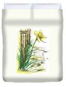 Blooming Daffodil Duvet Cover