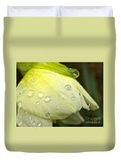 Blooming Daffodil With Raindrops Duvet Cover