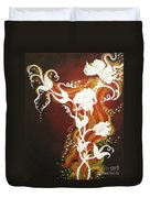 Blooming Flame Duvet Cover