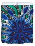 Blooming In Blue Duvet Cover