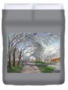 Blooming In Niagara Park Duvet Cover