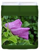 Blooming In The Rain Duvet Cover