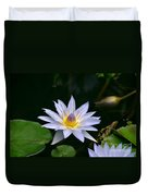 Blooming Lavender Water Lily Duvet Cover