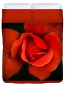 Blooming Red Rose Duvet Cover