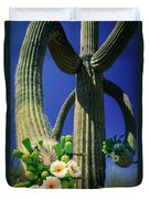 Blooming Saguaro Duvet Cover