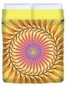 Blooming Seasons Kaleidoscope Duvet Cover by Derek Gedney