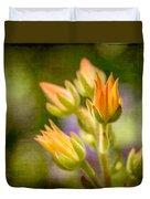 Blooming Succulents I Duvet Cover
