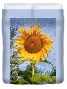 Blooming Sunflower V2 Duvet Cover by Adrian Evans