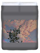 Blooming Tree And Sky Duvet Cover