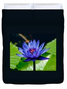 Blooming Water Lily Duvet Cover