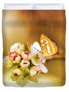 Blooms And Butterflies Duvet Cover